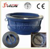 Válvula de verificação dupla da bolacha da placa da venda quente