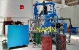 基礎オイルの蒸留の再生機械を黄色にする不用で黒いエンジンオイル