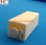 Tubo de cerámica modificado para requisitos particulares del aislante del alúmina de 99.7% Al2O3/96% que trabaja a máquina