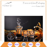 Wasser-Absinken-Entwurfs-Glaswhisky-Flasche, Wodka-Flasche