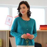 Maglione del cachemire lavorato a maglia cardigan su ordinazione delle donne