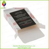 Caixa de presente de papel de empacotamento cosmética do cartão com indicador redondo