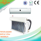 condicionador de ar solar híbrido fixado na parede de 2HP 1.8ton com capacidade azul do cambista de calor 18000BTU/H do revestimento