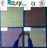 Vidrio bajo del panel del color E Doulbe del amarillo del verde del rojo azul