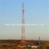 Torre de acero tubular Telecom autosuficiente del cedazo de 3 piernas