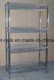 Justierbare Chrom-Metallmöbel-Ausstellungsraum-Bildschirmanzeige-Zahnstangen