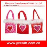 Valentine Decoration (ZY11S401-1-2) Valentine Heart Shape Hanging Bag