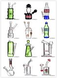 9 Zoll doppelter Raum-Glasrecycler-Trinkwasserbrunnen-mit Trommel-Diffuser (Zerstäuber)