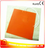 400*400*1.5mm Silicone 3D Printer Heater 220V 400W 6mm Hole
