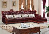 Sofa classique neuf de cuir de qualité, sofa de l'Europe (A36)