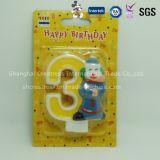 Причудливый рука покрашенная свечка дня рождения номера