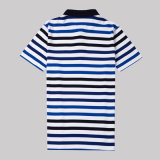 Polo rayé de T-shirt de Mens de coton de collier classique de polo