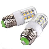 E27 3W 350lm 27 LED 5050 SMD Economia de energia Pure Warm White Corn Light Lamp Bulbo AC / DC12V