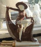 Découpant la sculpture en pierre en marbre de statue pour la décoration de jardin (SY-X1183)