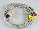 Тип Aha руководства кабеля 5 Ge Cardioset ECG щелчковый