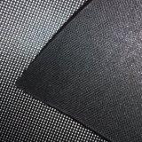 Cuoio di pattino d'argento nero di cuoio del PVC di certificazione dell'oro dello SGS
