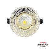 Luz de teto do diodo emissor de luz do branco e da cor 7W do ouro de Franch com dissipador de calor de alumínio