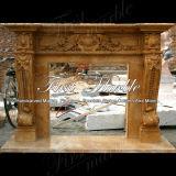 Camino di marmo Mfp-333 dell'oro di Ny del camino del granito del camino di pietra del camino