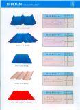 Gewölbtes Stahlblech für Dach und Wand färben