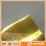 Hoja de aluminio de oro filmada del espejo