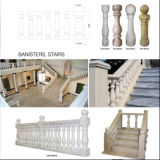 Guangxi 백색 대리석 Baluster, 층계 Balusters
