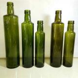 botella verde oscuro del aceite de oliva de 250ml 500ml con el casquillo de aluminio