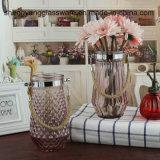 Florero alto del florero de cristal claro al por mayor para la decoración casera