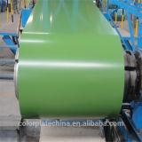 A cor verde G550 completamente Prepainted duramente bobinas galvanizadas do aço PPGI