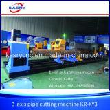 3 Mittellinien-Stahlrohr-Plasma-Ausschnitt-Maschinen-Schnitt-Loch Kr-Xy3