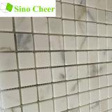 Mattonelle di mosaico quadrate del marmo dell'oro di Calacatta