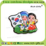 Kundenspezifische fördernde Geschenk-Dekoration Aimant permanente Kühlraum-Magnet-Andenken Korea (RC-KR)