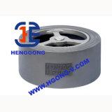 API/DIN de Klep van de Controle van het Wafeltje van de Schommeling van het roestvrij staal