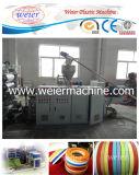 La liste en plastique réunit la chaîne de production de feuille de bordure foncée de PVC