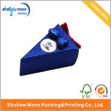 Triangle avec Bowknot Jewelry Blue Chocolate Paper Box (QY150022)