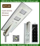 20W LED 40W Sunpowerの太陽電池パネルは1つの太陽街灯のすべてを統合した