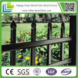 6ft High Residential Black Powder Coated Ornamental Iron Fence