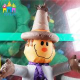 Finego Halloween Getränk-Festival kundenspezifische aufblasbare Kürbis-Lampen-Dekoration Wth LED