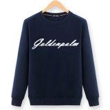 2017 Form-kundenspezifische Frauen-schwarze Baumwolldruck-Sweatshirts