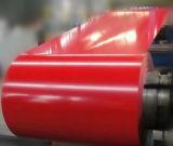 A bobina de aço de PPGI, colore placa revestida, material de construção do edifício