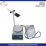 Agitador magnético do laboratório com placa quente