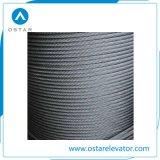 Cuerda de alambre de acero de la tracción del gobernador de la alta calidad para el elevador del pasajero (OS26)