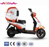 EEC/Ce/E Markierungs-elektrischer Roller mit grossem hinterem Kasten für Take-out Service