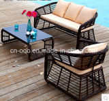 Cheap Outdoor Garden PE Rattan Wicker Round Mesa de café e cadeiras Set (Z327)