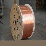 fio de aço folheado de cobre de 21%Iacs-45%Iacs CCS no cilindro de madeira