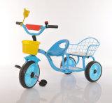 La Cina scherza il triciclo del bambino del gemello del triciclo del bambino della bici con la sede due