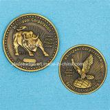Moneta d'ottone antica su ordinazione di sfida del metallo del ricordo (Ele-C204)