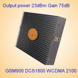 Ripetitore mobile di GSM del ripetitore del segnale del DCS della tri fascia 900&1800&3G/2100MHz 17dB GSM