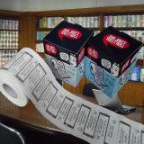 La merde plaisante tissu de papier estampé par coutume de rouleau de papier hygiénique