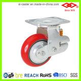 Rote PU-Fußrolle für stoßdämpfendes (P790-46F150X50)