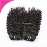 Ранг 5A индийское Virgin Curly Human Weaving Hair